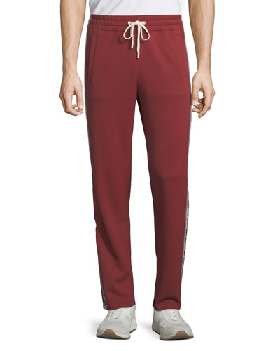 Men's Animals Nylon Track Pants, Red