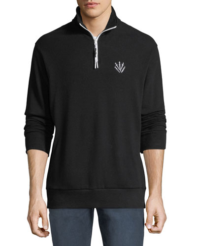 Men's Dagger Cotton Pique Popover Sweater