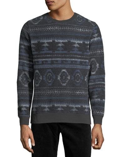 Men's Aztec Pattern Fleece Sweatshirt