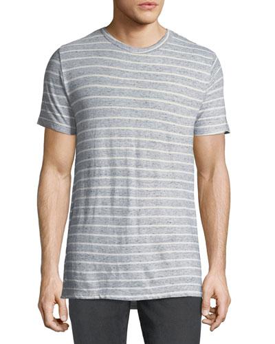 Men's Peppered Stripe Crewneck T-Shirt