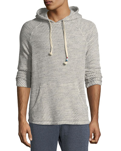 Men's Chain-Link Knit Hooded Sweater