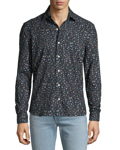 Men's Abstract-Print Sport Shirt