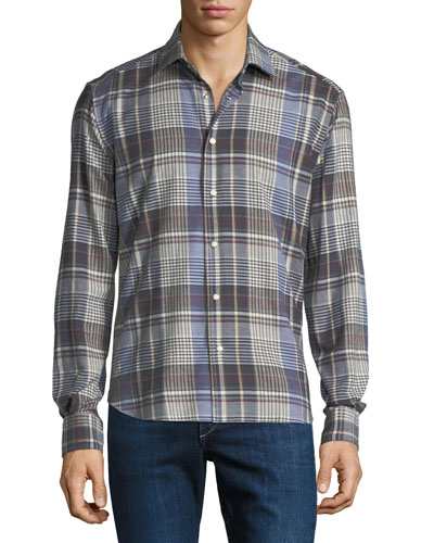 Men's Cozy Plaid Sport Shirt