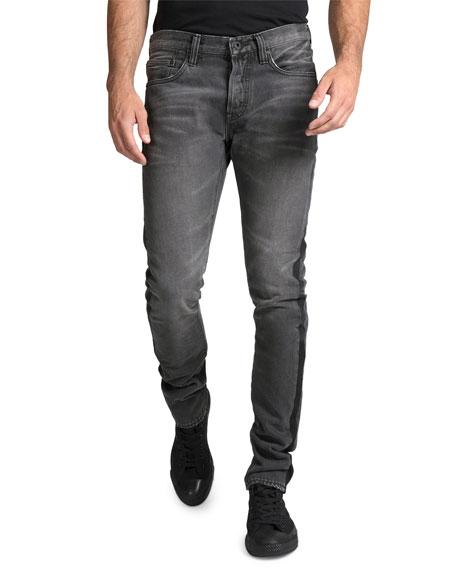 PRPS Men's Le Sabre Multi-Wash Side-Stripe Tapered Jeans