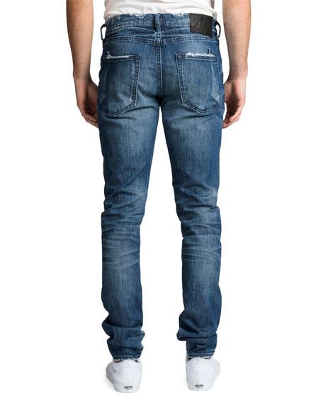PRPS Men's Windsor Fit Stretch Denim Jeans with Rip/Repair