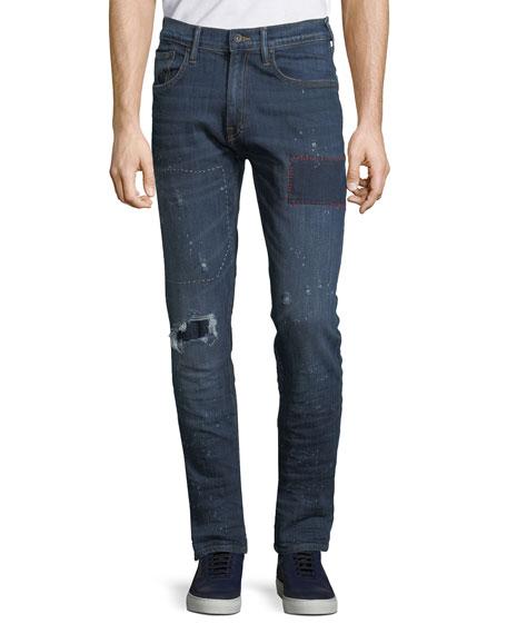 PRPS Men's Le Sabre Comfort-Stretch Tapered Jeans