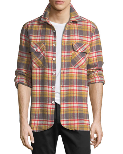 Men's Ian Flannel Plaid Overshirt