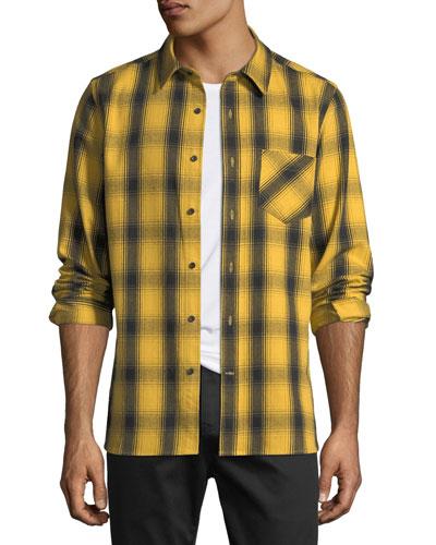 Men's Max Plaid Cotton Sport Shirt