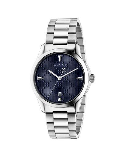 Men's G-Timeless Bracelet Watch, Blue/Silver