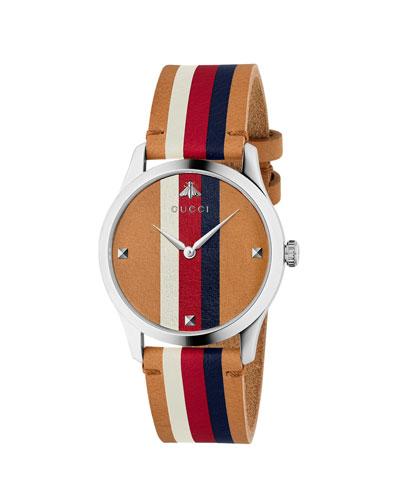 Men's Sylvie Web Leather Watch