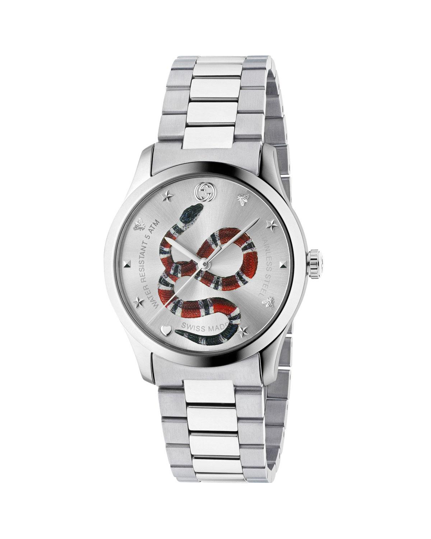 db184aa8a230 Gucci Men s Snake Stainless Steel Bracelet Watch