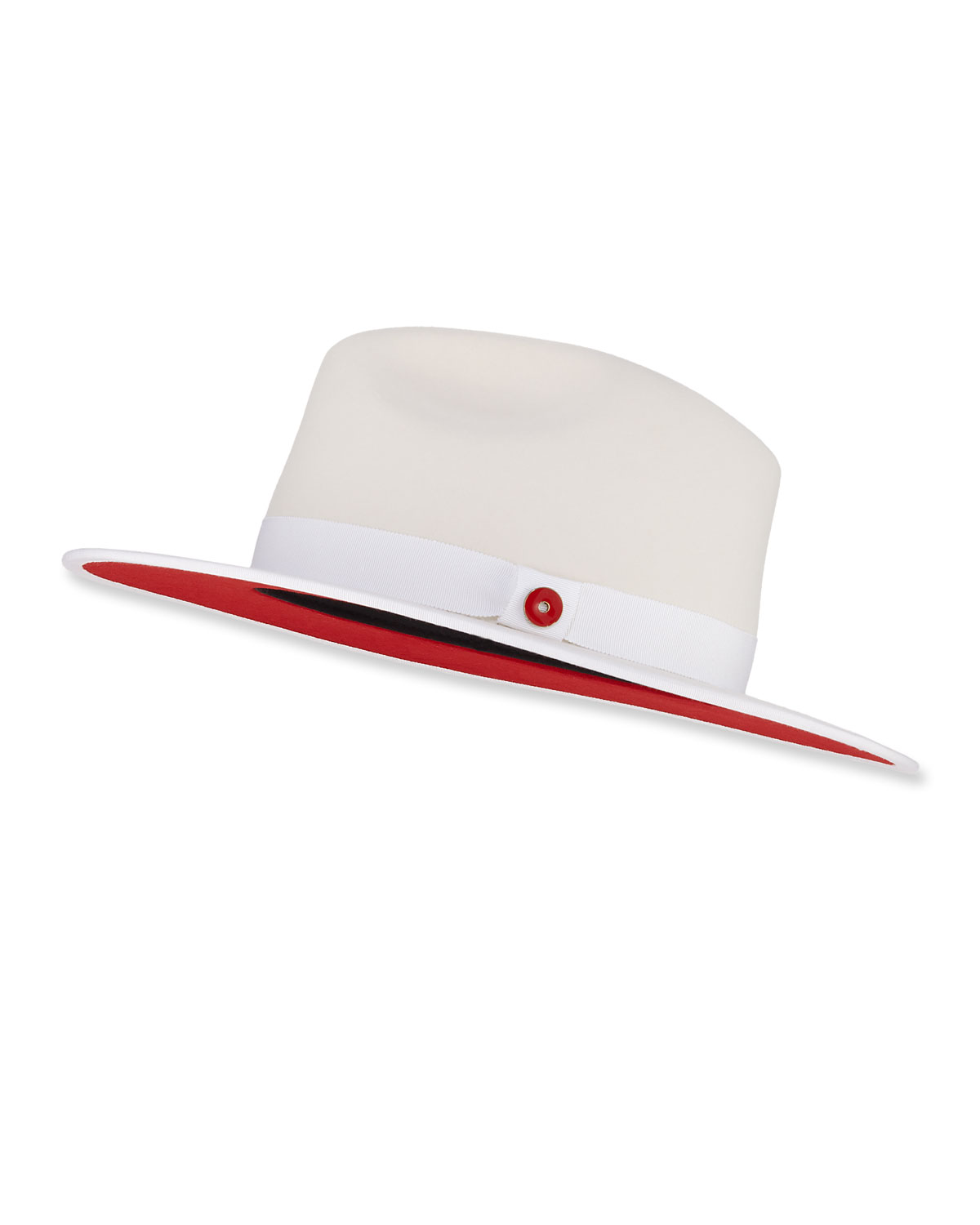 e6d115afe945b Keith and James Queen Red-Brim Wool Fedora Hat