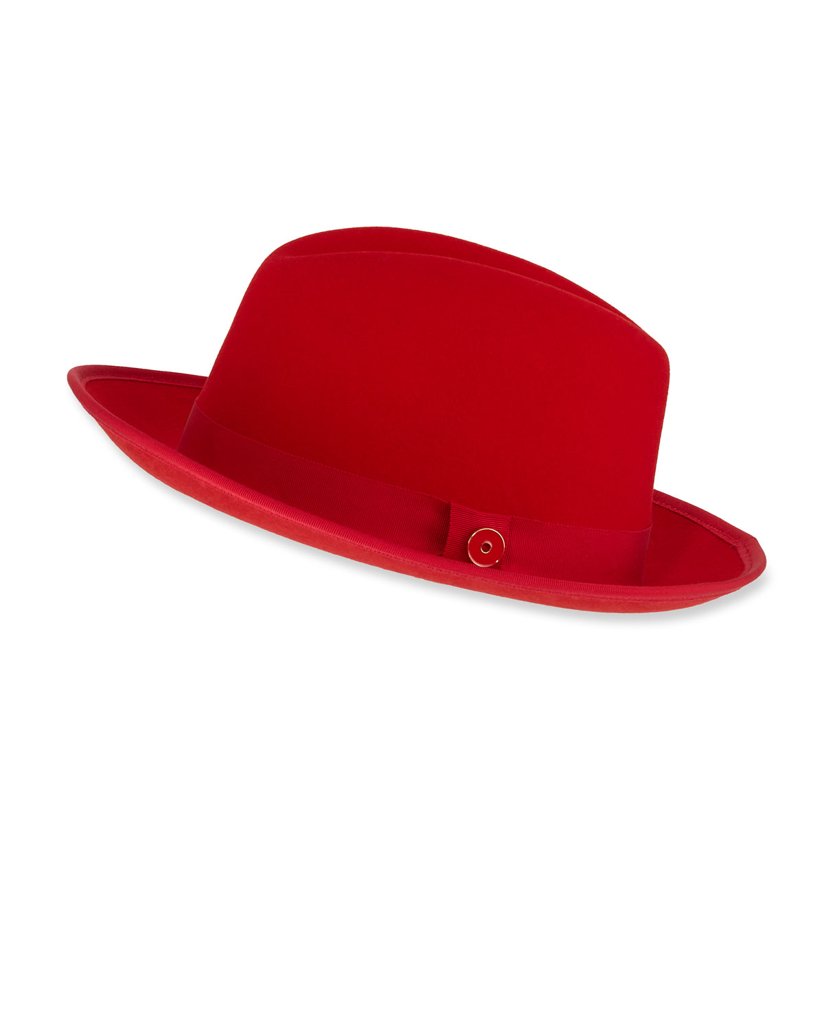 0479e516cb3b3 Keith and James Men s King Red-Brim Wool Fedora Hat