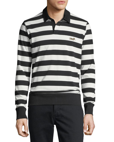 Men's Striped Cotton Rugby Shirt