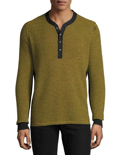 Men's Zack Striped Henley Shirt