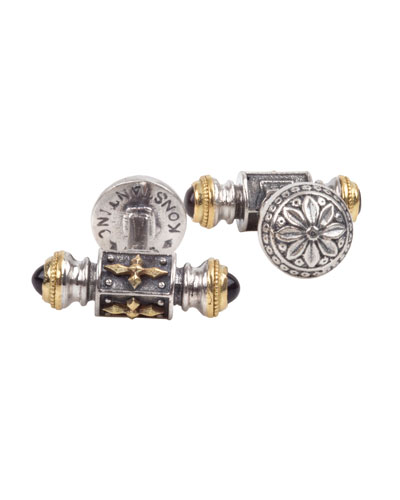 Men's Stavros Sterling Silver & 18k Gold Cuff Links
