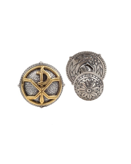 Konstantino Men's Stavros Round Cuff Links