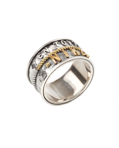 Men's Stavros Sterling Silver Band Ring