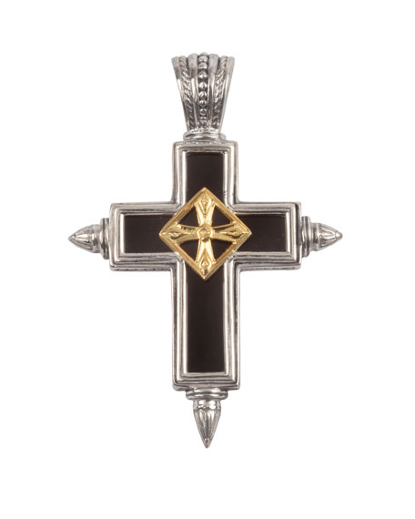 Konstantino Men's Stavros Pointed Cross Pendant