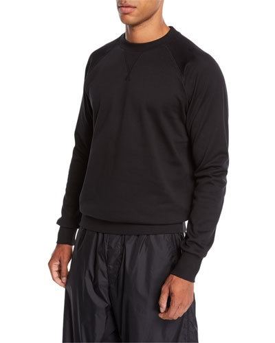 Men's Logo-Back Terry Sweater