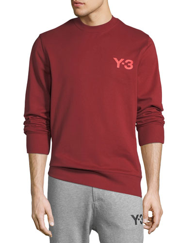 Men's Classic Cotton Terry Sweater with Logo