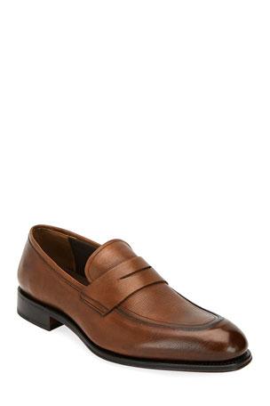 Salvatore Ferragamo Men's Akon 2 Leather Penny Loafers