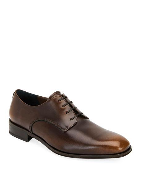 Men'S Daniel Everton Leather Plain Toe Oxfords in Madera Brown