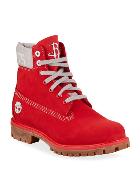"Timberland Boots MEN'S HOUSTON ROCKETS NBA 6"" PREMIUM BOOTS"