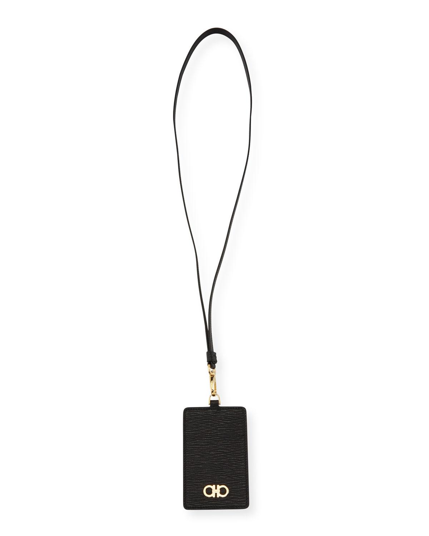 547f80d9c80 Salvatore Ferragamo Men s Revival Textured Leather Card Case w  Lanyard