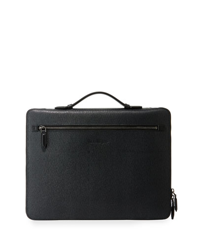 Men's Revival Textured Leather Portfolio Case