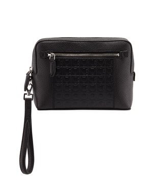 Salvatore Ferragamo Men s Firenze Gamma Textured Leather Belt Bag ae784d353f