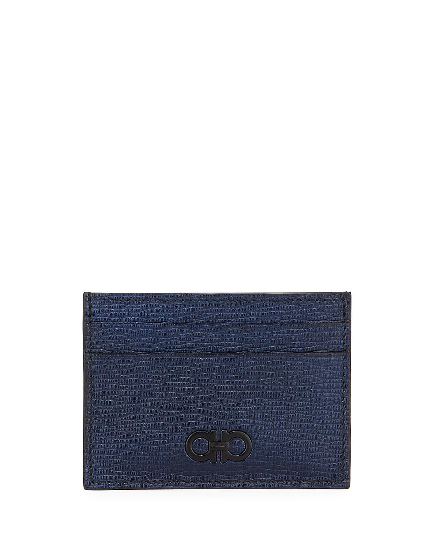 Salvatore FerragamoMen s Revival Gancio Leather Card Case with Magnetic  Money Clip 4d5f4d66ecb56