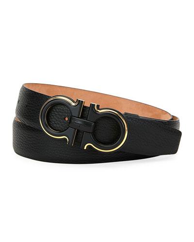 Men's Textured Leather Belt