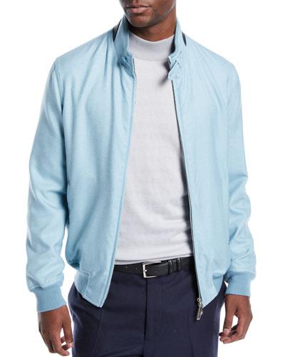 Men's Cashmere-Blend Bomber Jacket