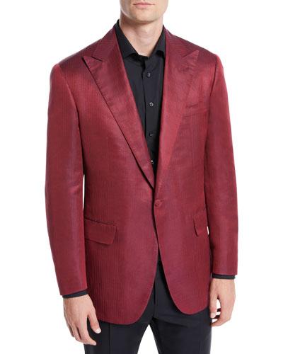 Men's Solid Silk Dinner Jacket
