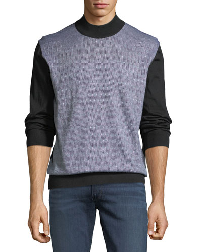 Men's Geometric-Print Sweater