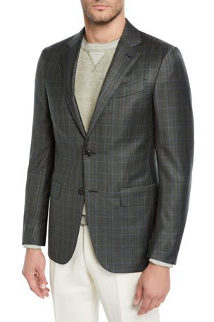 Ermenegildo Zegna Men's Check Sport Jacket