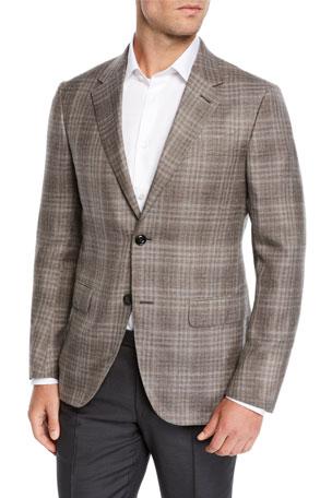 Bar III Mens Slim-Fit Bold Check Sport Coat Size 42L
