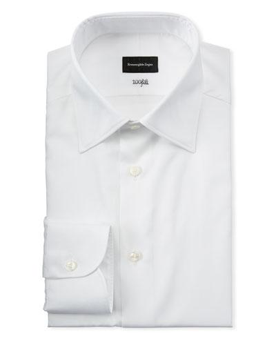 Men's Solid Cotton Dress Shirt