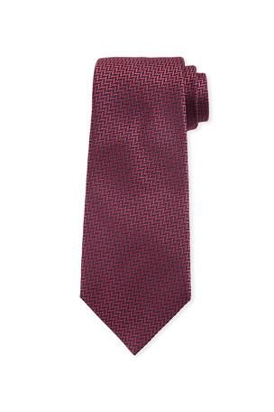 Ermenegildo Zegna Micro Textured Silk Tie