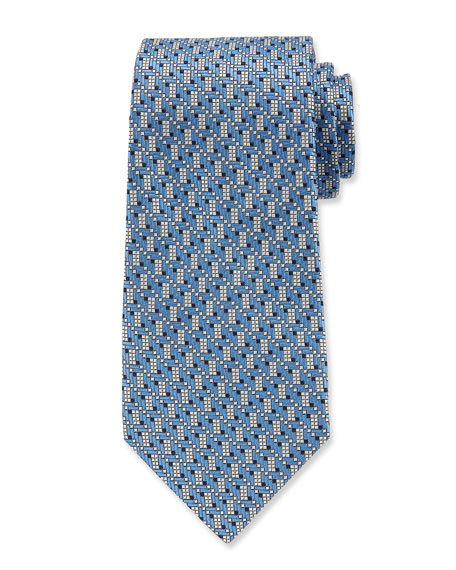 Ermenegildo Zegna Men's Silk Graphic Micro Tie