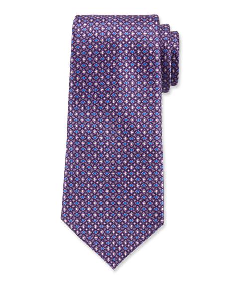 Ermenegildo Zegna Men's Micro-Geo Silk Tie, Purple