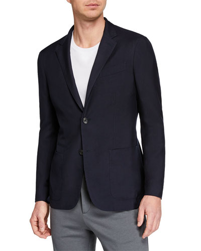Men's Cashmere/Silk Blazer