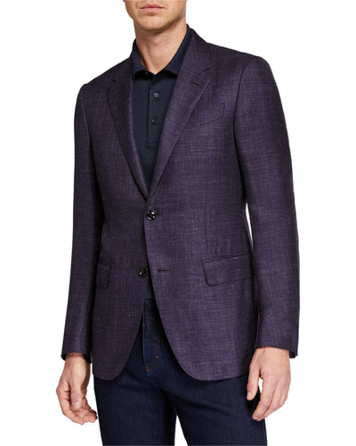 Men's Heathered Cashmere-Silk Blazer