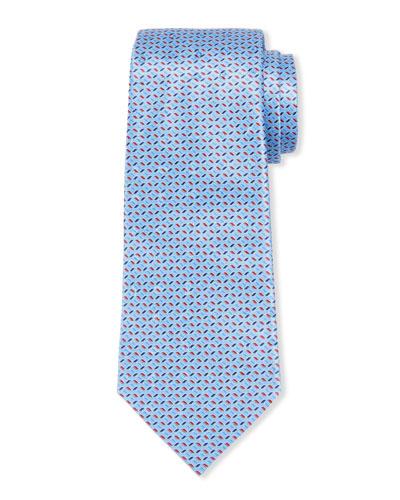 Large-Scale Paisley Tie  Light Blue