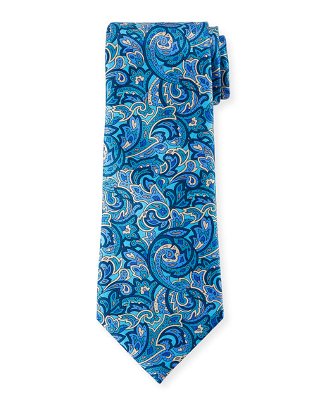 Ermenegildo Zegna Men's Medium-Scale Paisley Tie