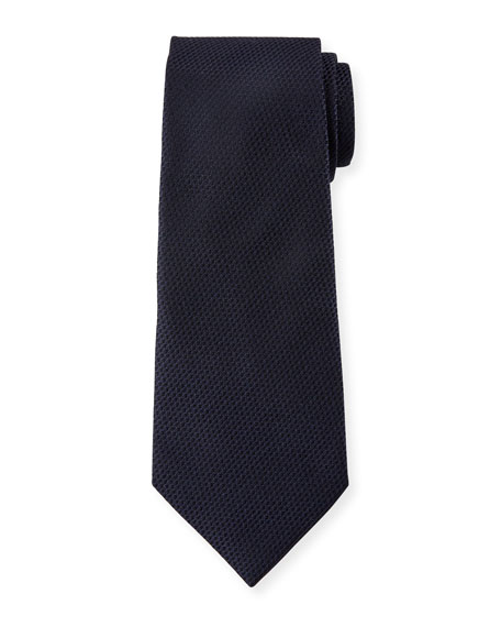 Ermenegildo Zegna Chain-Link Woven Silk Tie