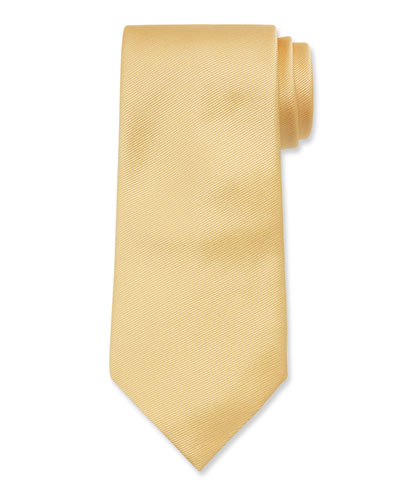 Solid Silk Twill Tie  Yellow