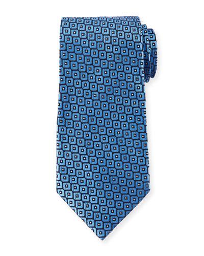 Men's Woven Boxes Silk Tie
