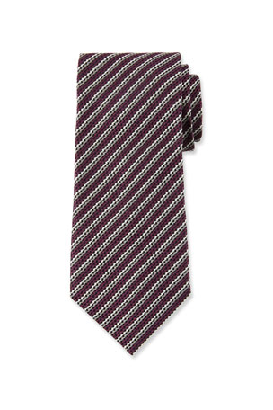 Ermenegildo Zegna Men's Narrow Multi-Stripe Silk Tie